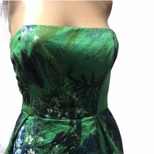 Teri Jon Gorgeous Strapless Midi Dress